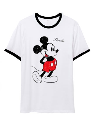 Mickey Mouse On Florida Ringer T Shirt
