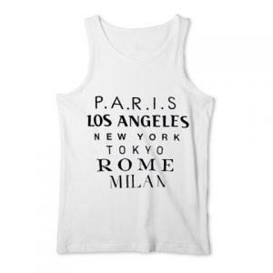 Paris los angeles new york tokyo rome milan Tank Top