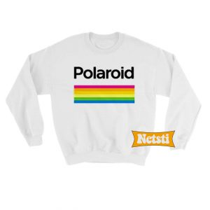 Polaroid Color Spectrum Horizontal Chic Fashion Sweatshirt