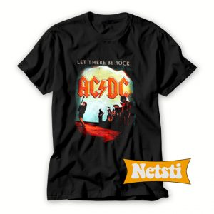 ACDC Let There Be Rock Chic Fashion T Shirt
