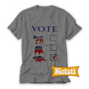 Vote Dinosaur Chic Fashion T Shirt