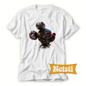 Mickey Head Watercolor Disney Chic Fashion T Shirt