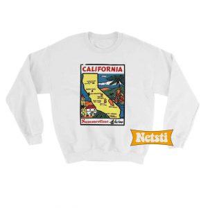 State Sticker California Chic Fashion Sweatshirt