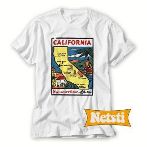 State Sticker California Chic Fashion T Shirt