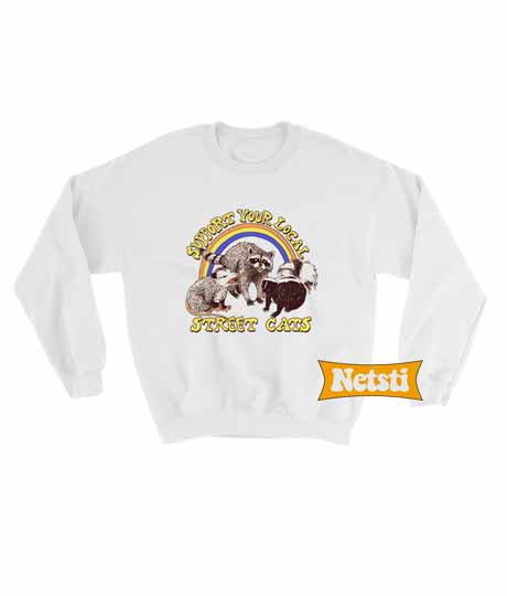 Street Cats Chic Fashion Sweatshirt