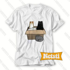 4 Cats in a Box Chic Fashion T Shirt