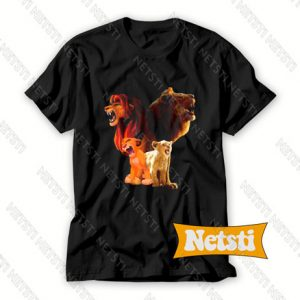Baby Simba and adult Simba The Lion King 2019 Chic Fashion T Shirt