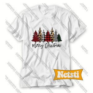 Merry Christmas Plaid Chic Fashion T Shirt