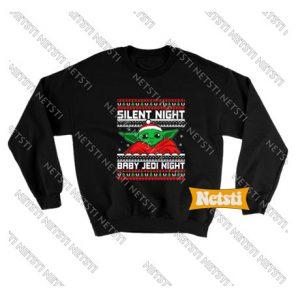 Baby Yoda Silent Night Chic Fashion Sweatshirt