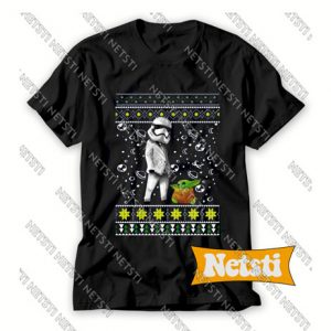 Star Wars Stormtrooper And Baby Yoda Chic Fashion T Shirt