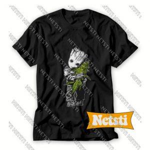 Groot hugging weed Chic Fashion T Shirt