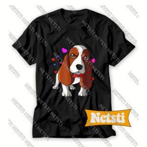 Basset Hound Dog Is My Valentines Day Chic Fashion T Shirt