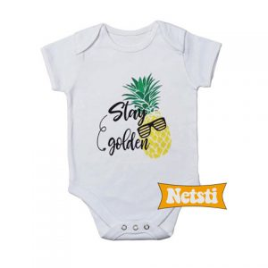 Stay Golden Pineapple Chic Fashion Baby Onesie