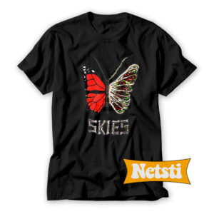 Lil-Skies-Butterfly-T-Shirt-For-Women-and-Men-S-3XL