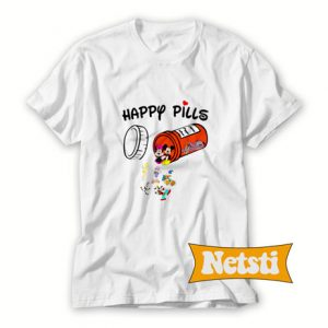 Happy Pills Disney Donald Duck Cartoon T Shirt