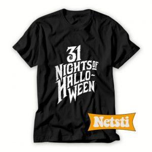 31 Nights Of Halloween Chic Fashion T Shirt
